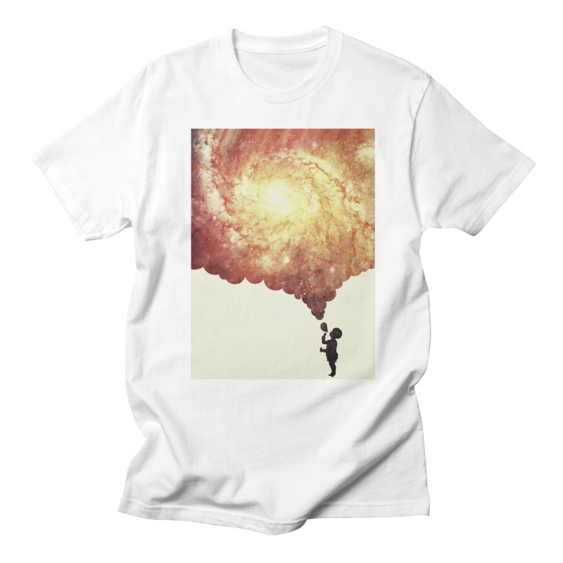 The universe in a soap-bubble! (Awesome Space / Nebula / Galaxy Negative Space Artwork) Men's T-Shirt by Badbugs's Artist Shop