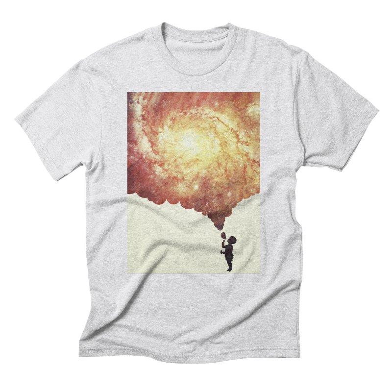 The universe in a soap-bubble! (Awesome Space / Nebula / Galaxy Negative Space Artwork) Men's Triblend T-Shirt by Badbugs's Artist Shop