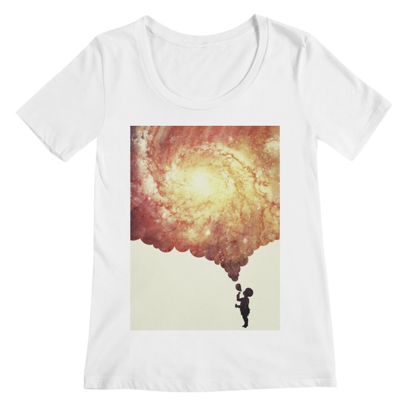 The universe in a soap-bubble! (Awesome Space / Nebula / Galaxy Negative Space Artwork) Women's Scoopneck by Badbugs's Artist Shop