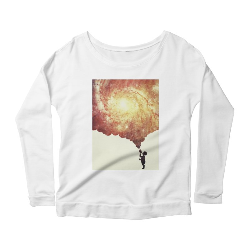 The universe in a soap-bubble! (Awesome Space / Nebula / Galaxy Negative Space Artwork) Women's Longsleeve Scoopneck  by Badbugs's Artist Shop