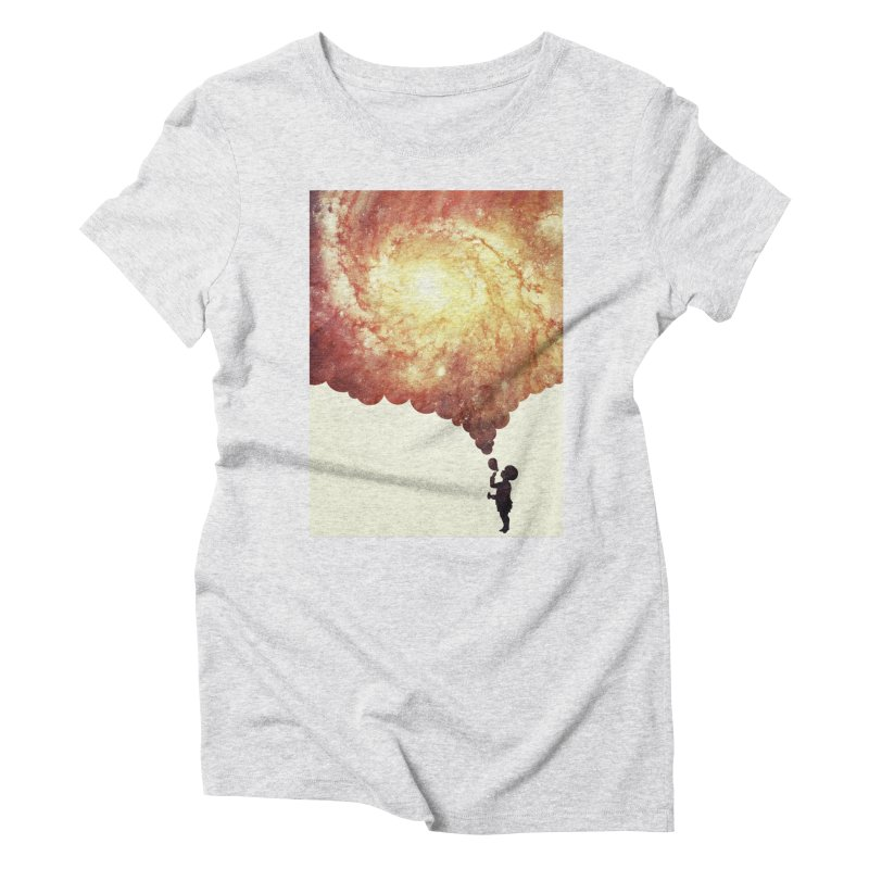 The universe in a soap-bubble! (Awesome Space / Nebula / Galaxy Negative Space Artwork) Women's Triblend T-Shirt by Badbugs's Artist Shop