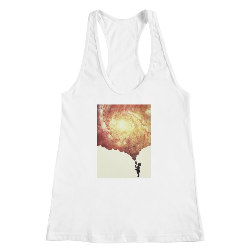 The universe in a soap-bubble! (Awesome Space / Nebula / Galaxy Negative Space Artwork) Women's Racerback Tank by Badbugs's Artist Shop