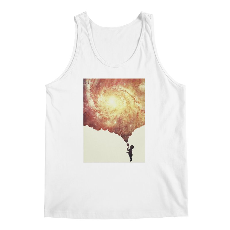 The universe in a soap-bubble! (Awesome Space / Nebula / Galaxy Negative Space Artwork) Men's Tank by Badbugs's Artist Shop