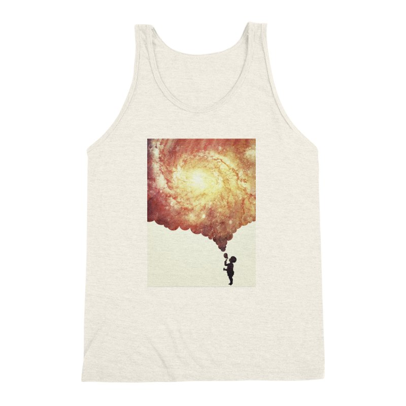 The universe in a soap-bubble! (Awesome Space / Nebula / Galaxy Negative Space Artwork) Men's Triblend Tank by Badbugs's Artist Shop