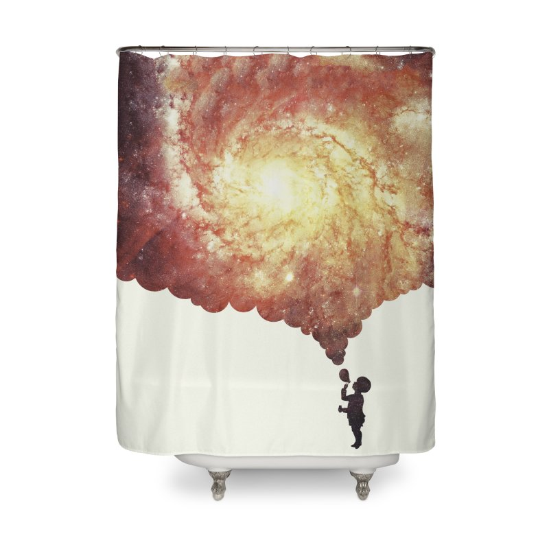 The universe in a soap-bubble! (Awesome Space / Nebula / Galaxy Negative Space Artwork) Home Shower Curtain by Badbugs's Artist Shop