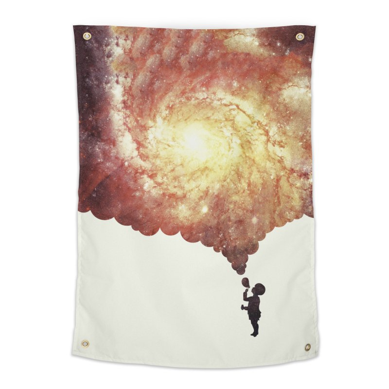 The universe in a soap-bubble! (Awesome Space / Nebula / Galaxy Negative Space Artwork) Home Tapestry by Badbugs's Artist Shop