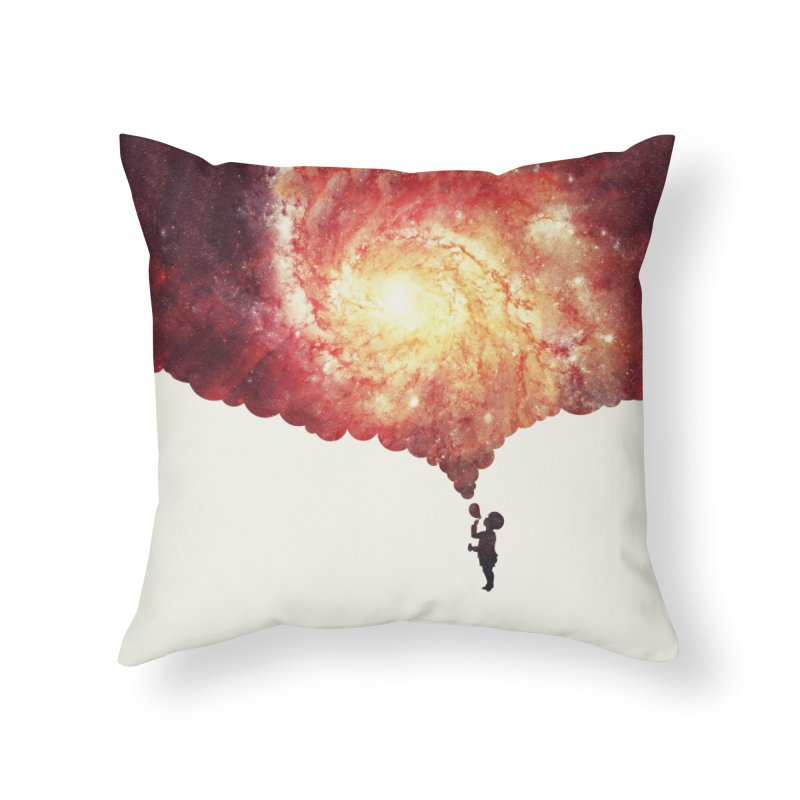 The universe in a soap-bubble! (Awesome Space / Nebula / Galaxy Negative Space Artwork) Home Throw Pillow by Badbugs's Artist Shop