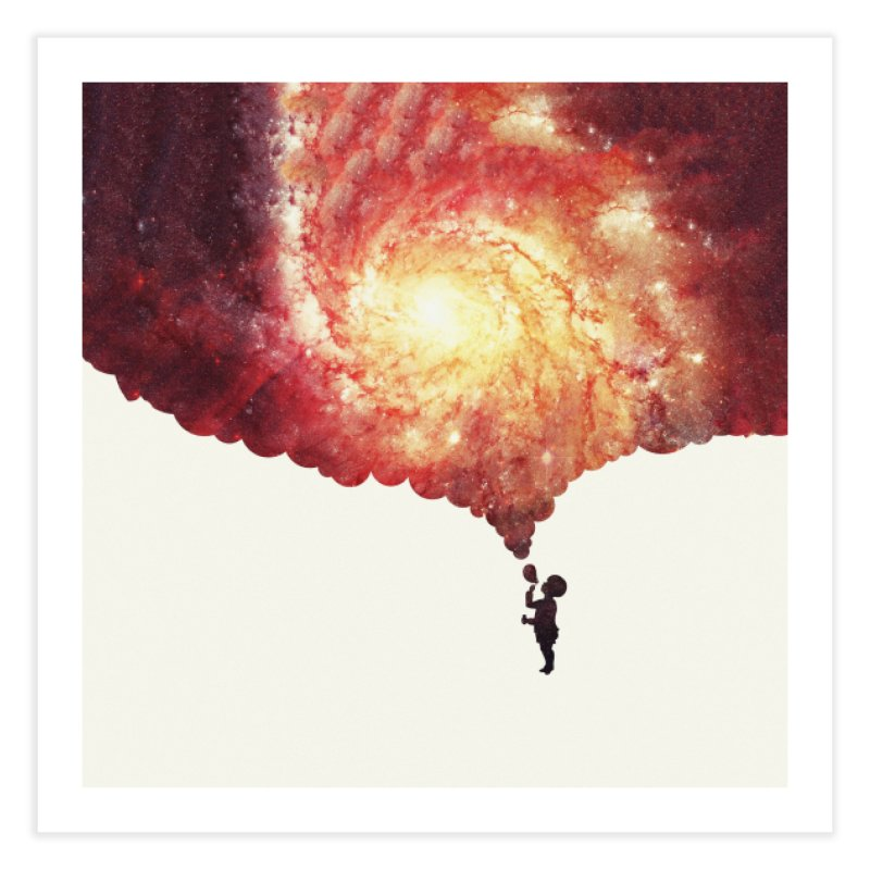 The universe in a soap-bubble! (Awesome Space / Nebula / Galaxy Negative Space Artwork) Home  by Badbugs's Artist Shop