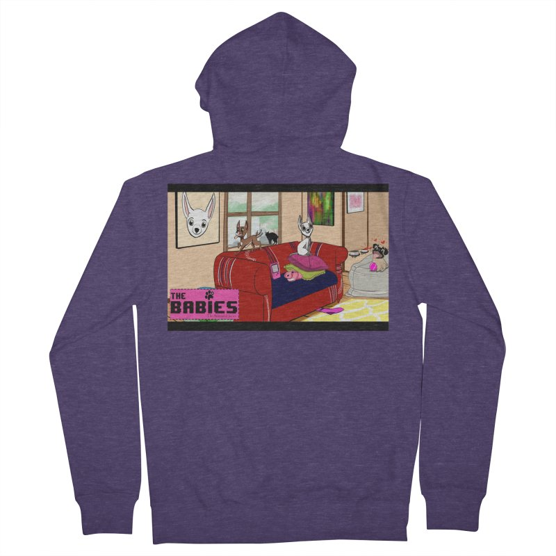 The Babies Animated Series  Men's Zip-Up Hoody by Bad Date Kate's Artist Shop
