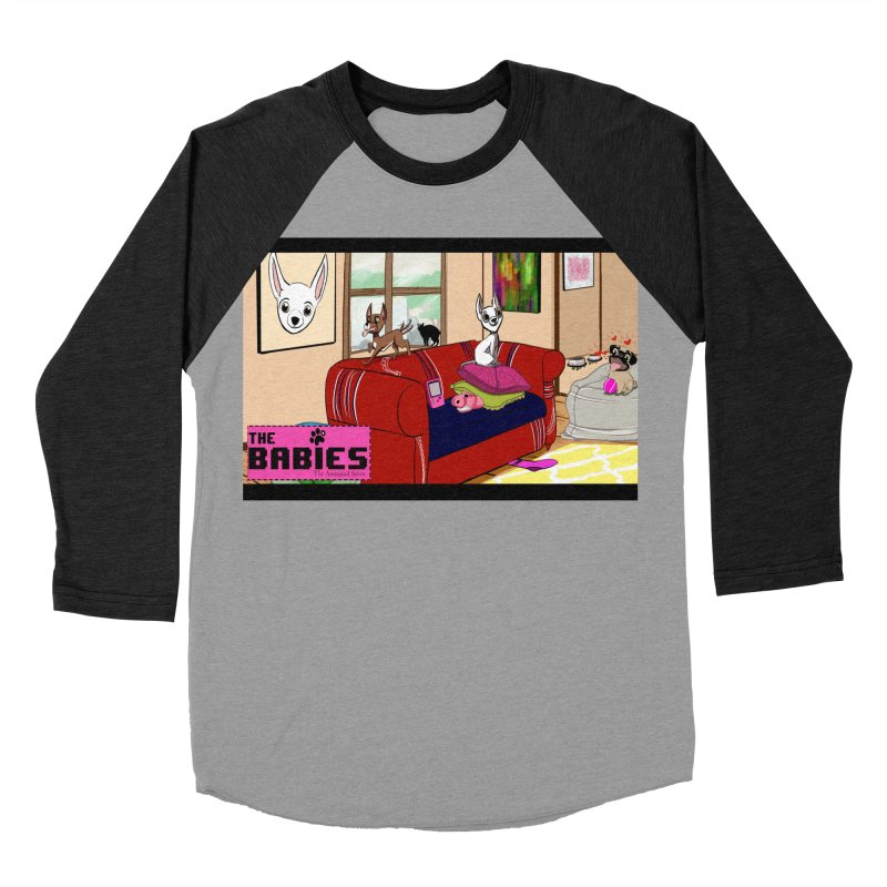 The Babies Animated Series  Women's Baseball Triblend T-Shirt by Bad Date Kate's Artist Shop