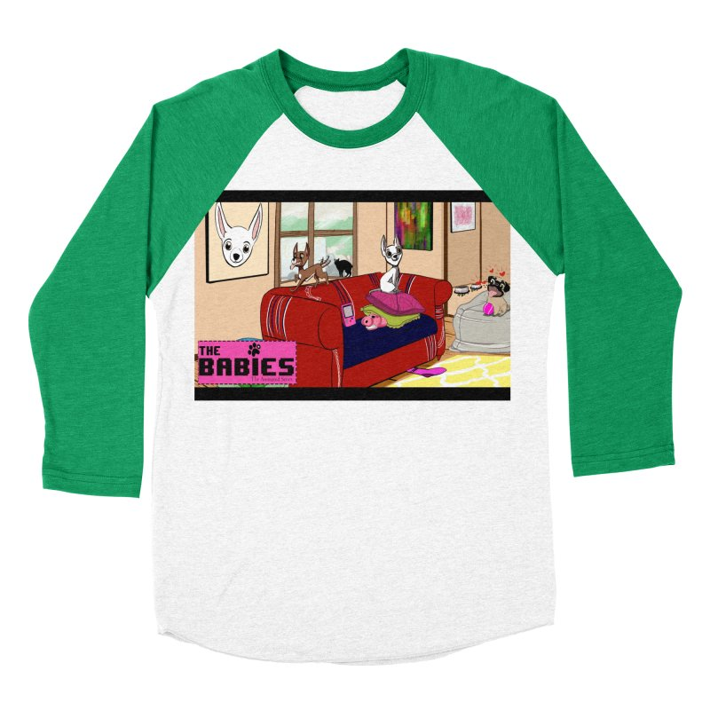 The Babies Animated Series  Men's Baseball Triblend T-Shirt by Bad Date Kate's Artist Shop