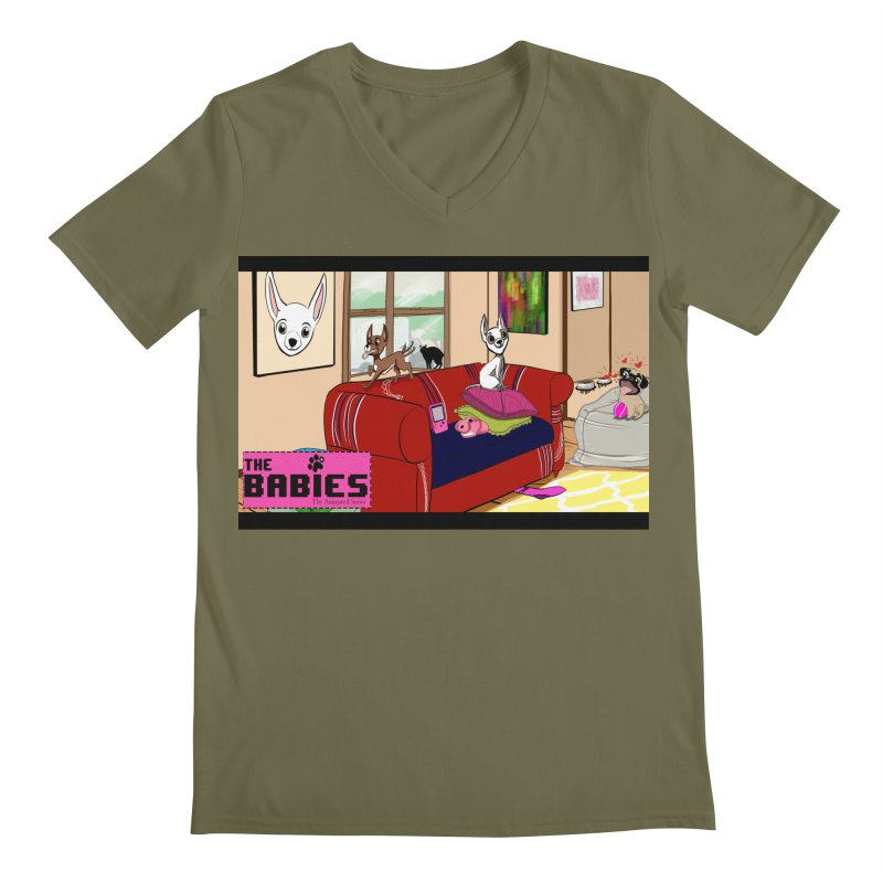 The Babies Animated Series  Men's V-Neck by Bad Date Kate's Artist Shop