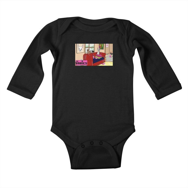 The Babies Animated Series  Kids Baby Longsleeve Bodysuit by Bad Date Kate's Artist Shop