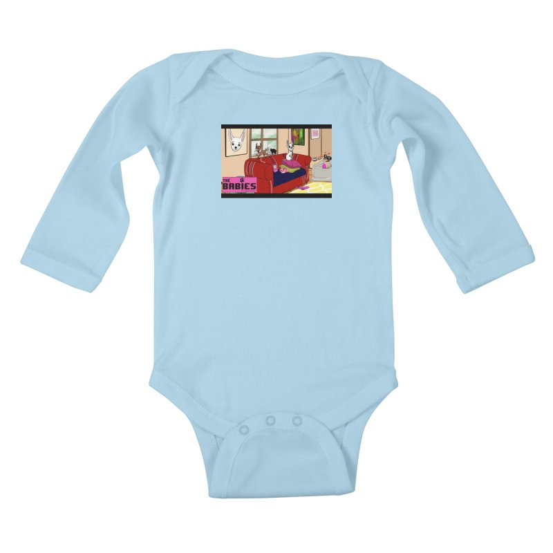 The Babies Animated Series  Kids Baby Longsleeve Bodysuit by Bad Date Kate's Artist Shop