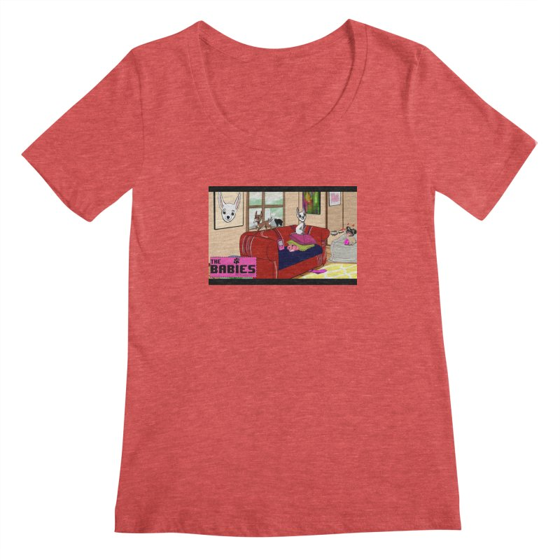 The Babies Animated Series  Women's Scoopneck by Bad Date Kate's Artist Shop