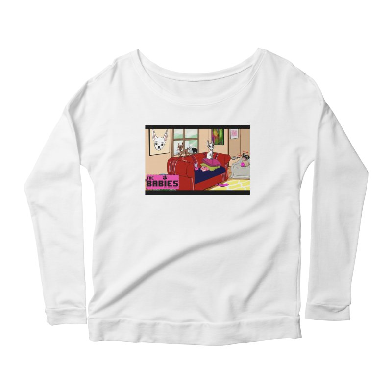 The Babies Animated Series  Women's Longsleeve Scoopneck  by Bad Date Kate's Artist Shop