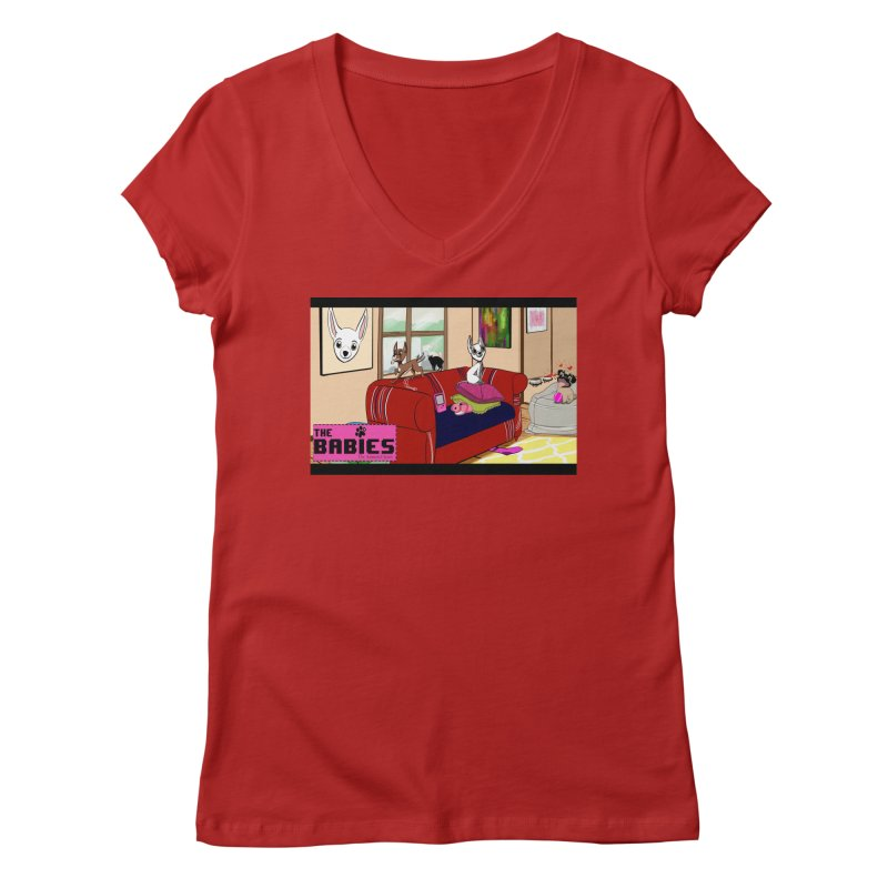 The Babies Animated Series  Women's V-Neck by Bad Date Kate's Artist Shop