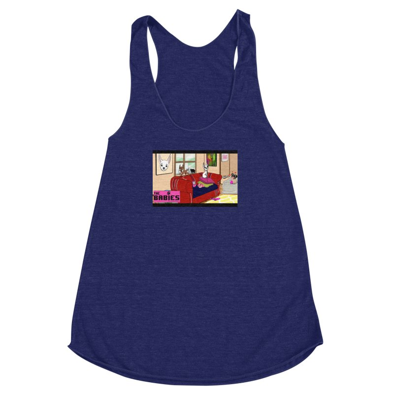 The Babies Animated Series  Women's Racerback Triblend Tank by Bad Date Kate's Artist Shop