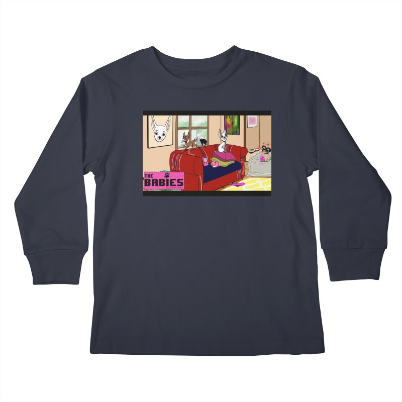 The Babies Animated Series  Kids Longsleeve T-Shirt by Bad Date Kate's Artist Shop