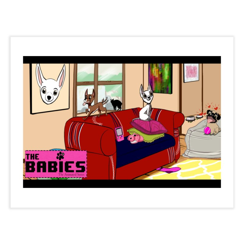 The Babies Animated Series  Home Fine Art Print by Bad Date Kate's Artist Shop