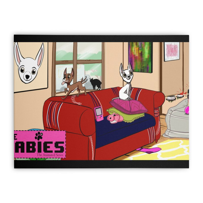 The Babies Animated Series  Home Stretched Canvas by Bad Date Kate's Artist Shop