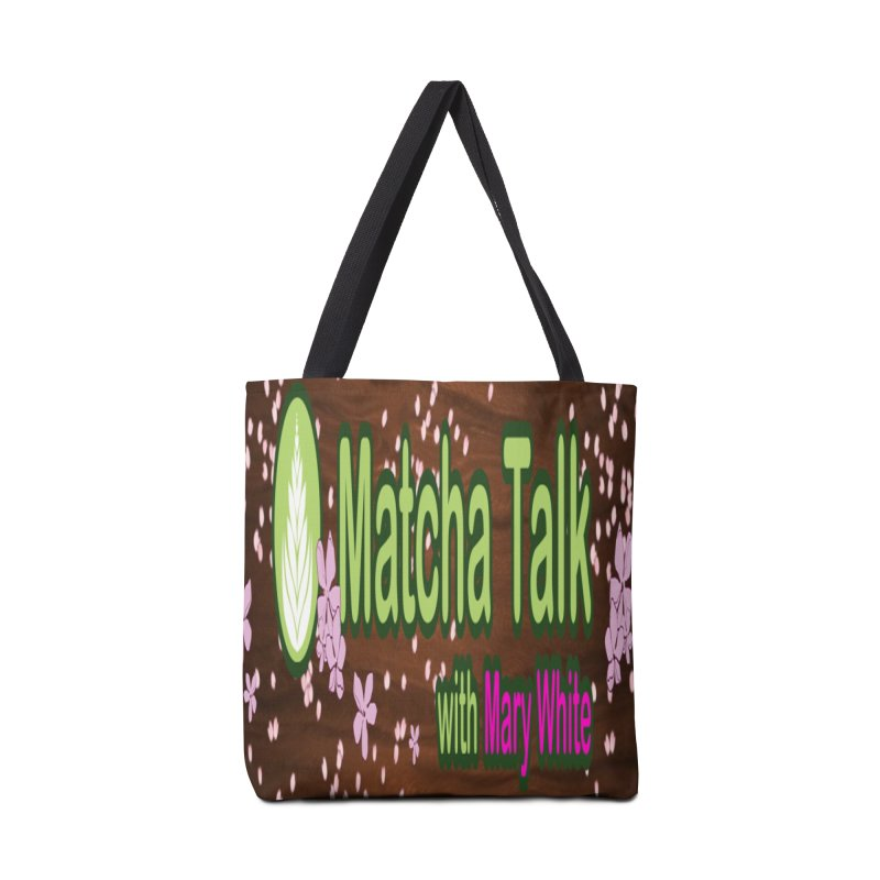 Matcha Talk with Mary White Accessories Bag by Strange Canine Merchandise