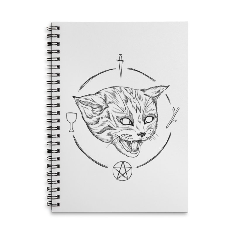 Mewgickal Accessories Lined Spiral Notebook by Bad Girl/Sad Girl