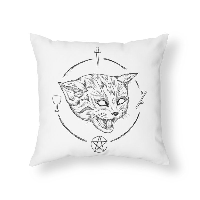 Mewgickal Home Throw Pillow by badgirlsadgirl's Artist Shop