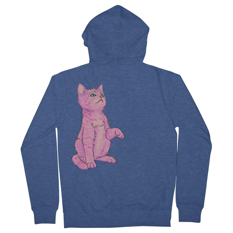 baby meow Women's French Terry Zip-Up Hoody by Bad Girl/Sad Girl