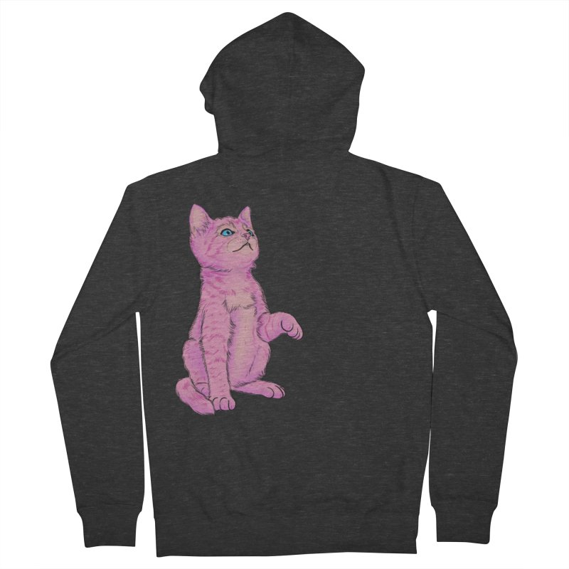 baby meow Men's French Terry Zip-Up Hoody by Bad Girl/Sad Girl