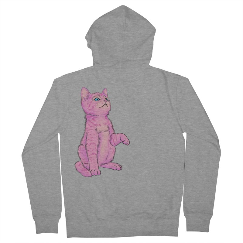 baby meow Men's French Terry Zip-Up Hoody by badgirlsadgirl's Artist Shop