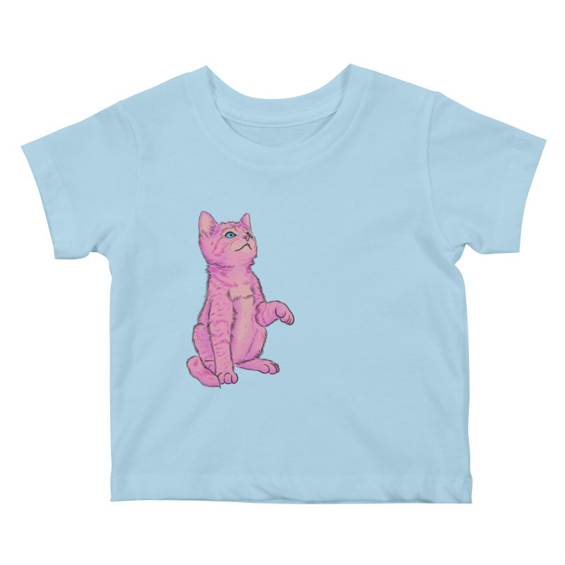 baby meow Kids Baby T-Shirt by badgirlsadgirl's Artist Shop