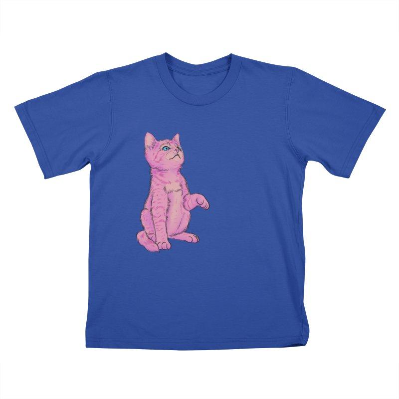 baby meow Kids T-Shirt by badgirlsadgirl's Artist Shop