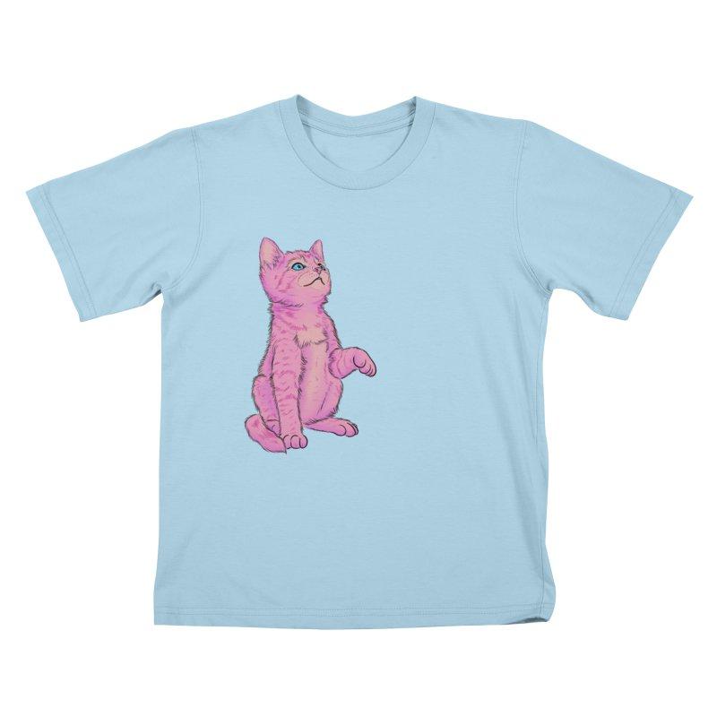 baby meow Kids T-Shirt by Bad Girl/Sad Girl