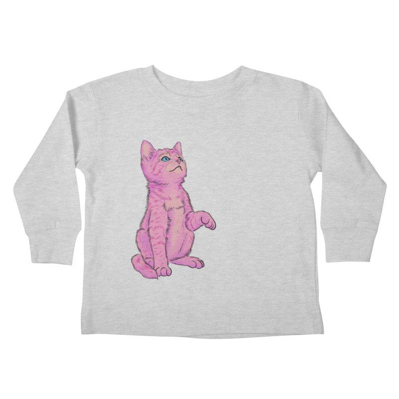 baby meow Kids Toddler Longsleeve T-Shirt by badgirlsadgirl's Artist Shop