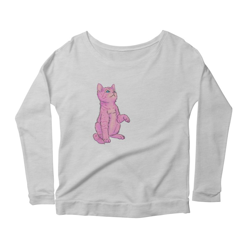 baby meow Women's Scoop Neck Longsleeve T-Shirt by Bad Girl/Sad Girl