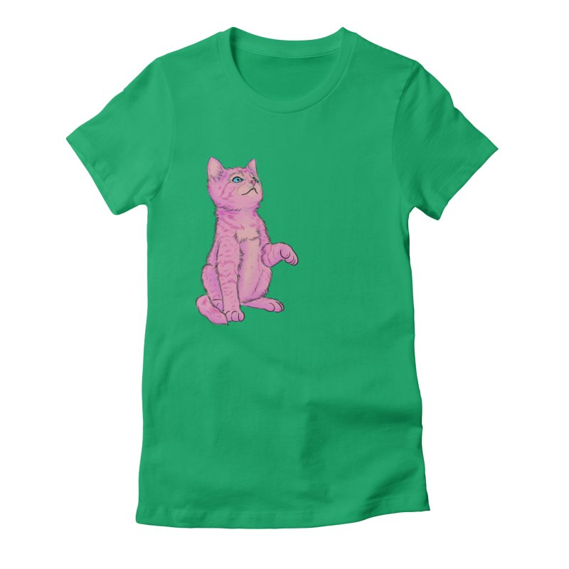 baby meow Women's Fitted T-Shirt by Bad Girl/Sad Girl