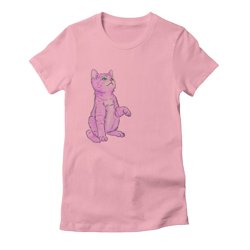 baby meow Women's Fitted T-Shirt by badgirlsadgirl's Artist Shop