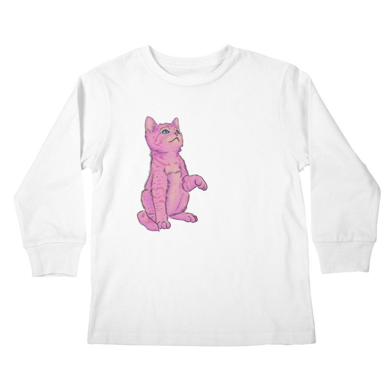 baby meow Kids Longsleeve T-Shirt by Bad Girl/Sad Girl