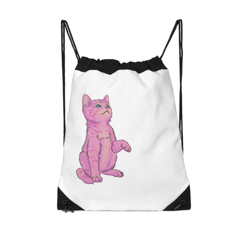 baby meow Accessories Drawstring Bag Bag by Bad Girl/Sad Girl
