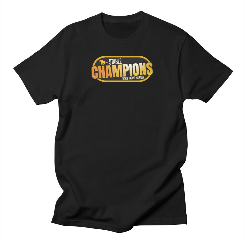 Stable Champions Men's T-Shirt by Bad Jump Games Merch Shop
