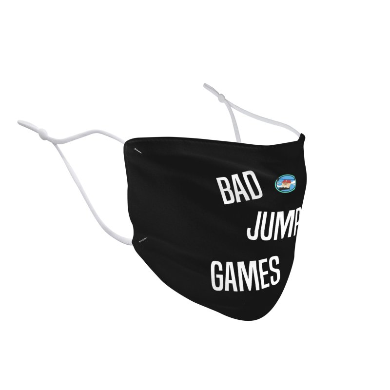 Bad Jump Games Font Logo Accessories Face Mask by Bad Jump Games Merch Shop