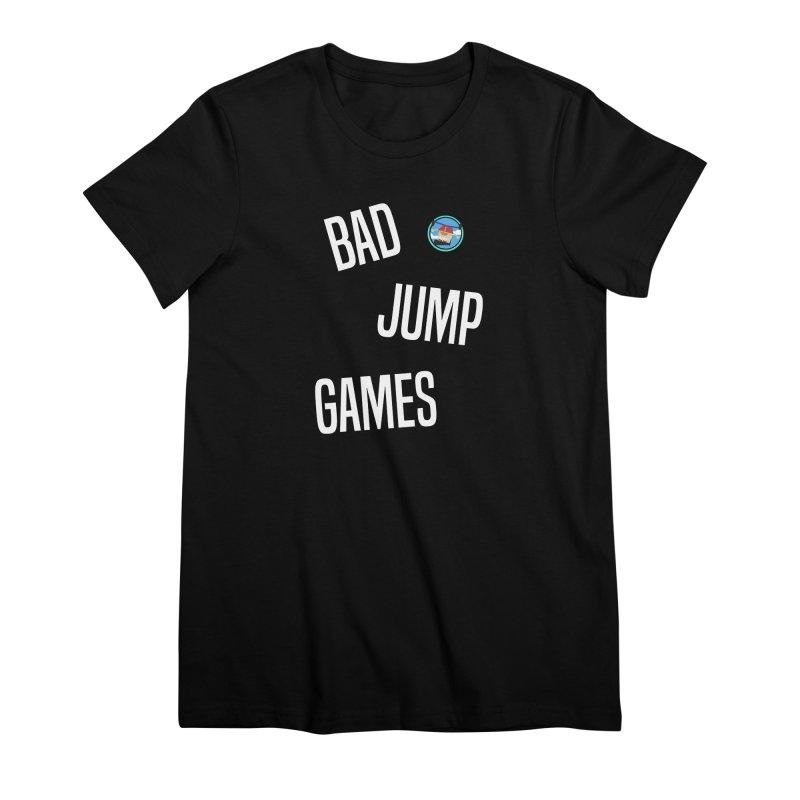 Bad Jump Games Font Logo Women's T-Shirt by Bad Jump Games Merch Shop