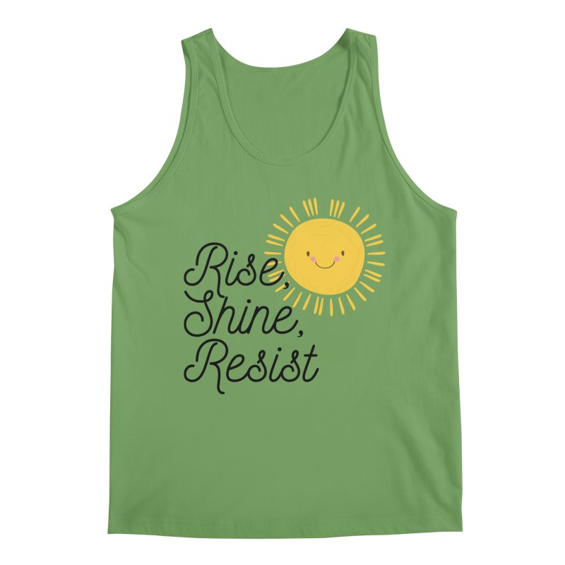 Rise Shine Resist Men's Tank by BadNewsB