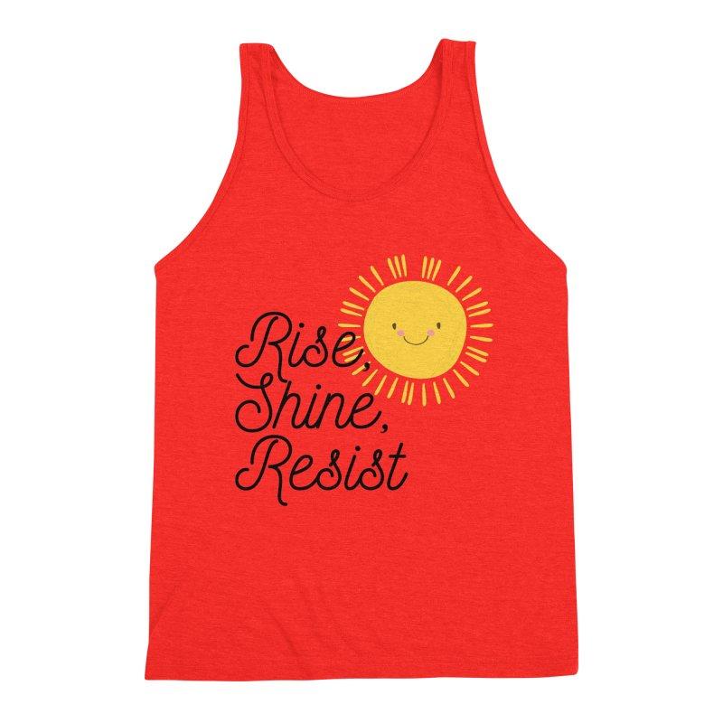 Rise Shine Resist Men's Tank by BadNewsB