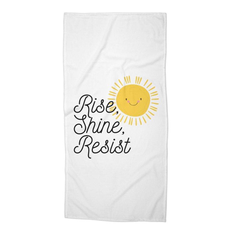 Rise Shine Resist Accessories Beach Towel by BadNewsB