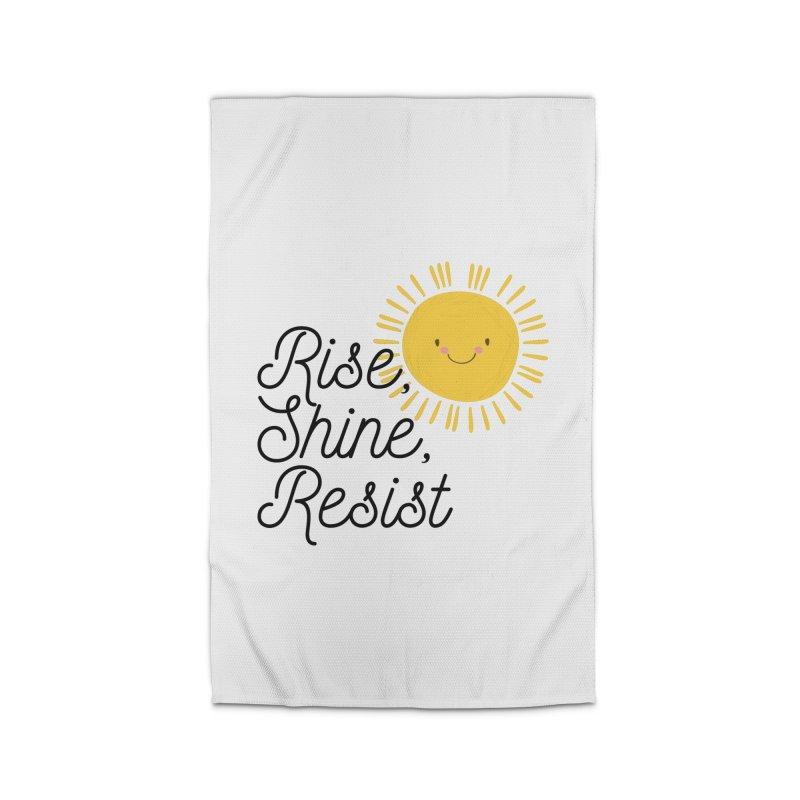 Rise Shine Resist Home Rug by BadNewsB
