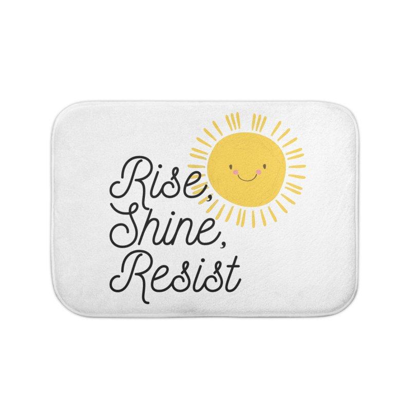 Rise Shine Resist Home Bath Mat by BadNewsB