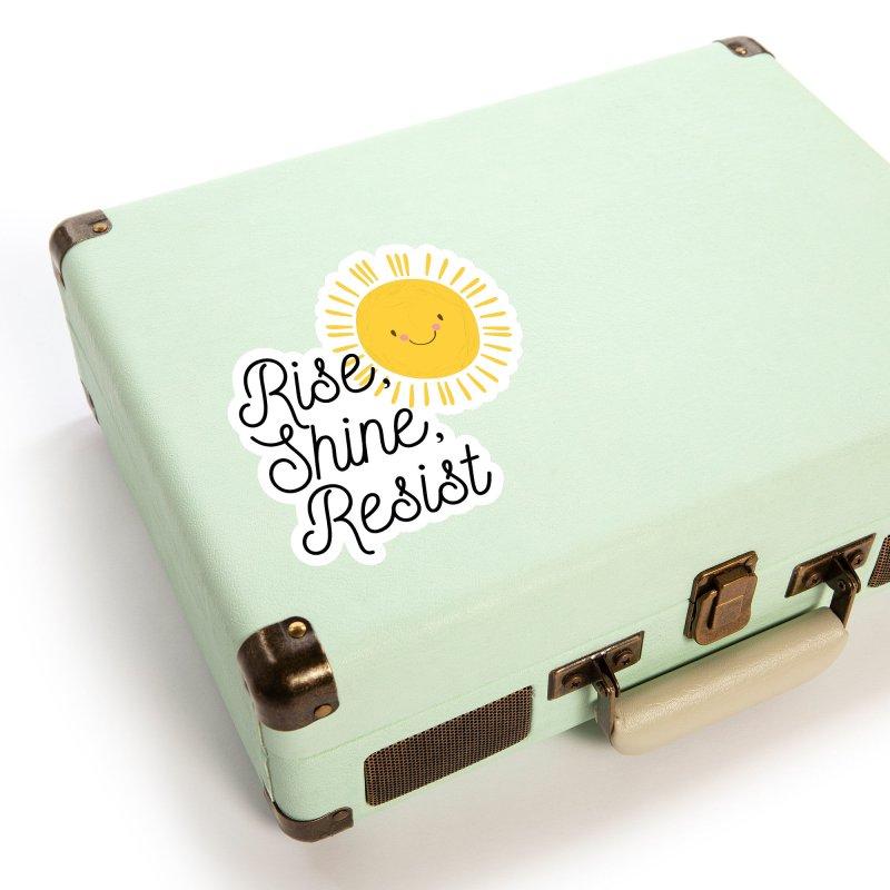 Rise Shine Resist Accessories Sticker by BadNewsB
