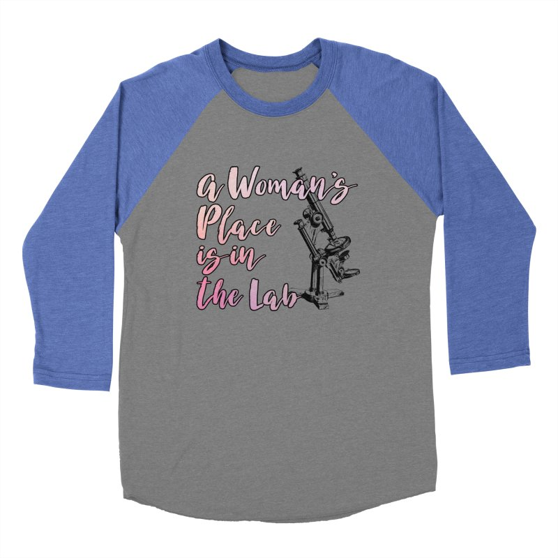 A Woman's Place is in the Lab Men's Longsleeve T-Shirt by BadNewsB